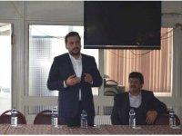 AK Parti milletvekili adayı Mustafa Özbey: Kütahyalı firmalardan 615 gencin istihdamı için söz aldık