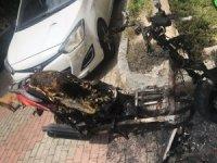 Çalamadıkları motoru ateşe verdiler