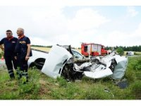 Pikap ile otomobil çarpıştı: 1 ölü, 1 yaralı