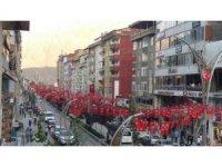 Hakkari Türk bayrakları il ışıldıyor