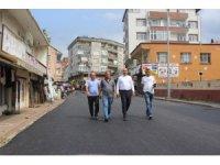 Tekkeköy'de asfalt çalışması