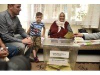 Gümüşhane'de seyyar sandıkta 38 kişi oy kullandı