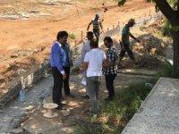 Başkan Asya, Yapım Çalışmaları Devam Eden Göletli Parkta İncelemelerde Bulundu