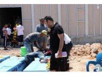 Şanlıurfa'da üzerine demir düşen 3 işçi yaralandı