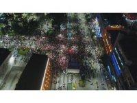 Trabzon'da AK Parti kutlamaları havadan böyle görüntülendi