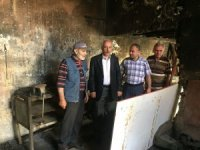 Başkan Gül'den işyeri yanan esnafa ziyaret