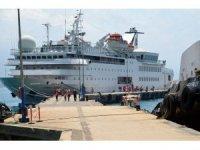 Lübnanlı turistler kruvaziyer gemisi ile Alanya'ya geldi