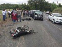 Kazada yaralanan motosiklet sürücüsü hayata tutunamadı