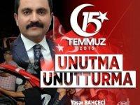 """Belediye Başkanı Yaşar Bahçeci, """"Hain darbe girişiminin yıl dönümünde Kırşehir ayakta olacak"""""""