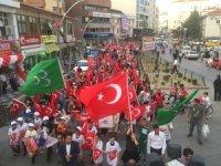 """Sungurlu'da """"Milli Birlik"""" yürüyüşü düzenlendi"""