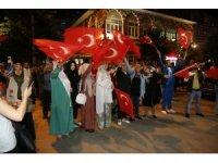 Rize'de 15 Temmuz yürüyüşü