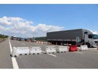 Bolu TEM Otoyolu'nda 28 gün sürecek çalışma başladı