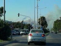 Amanos Dağları'nda çıkan yangın devam ediyor