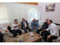 Kaymakam Çelikkaya ve Başkan Dişli'den 15 Temmuz Gazilerine ziyaret