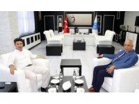 Rektör Karacoşkun ile  Milli Eğitim Müdürü Yavuz bir araya geldi