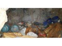 PKK sığınağında yaşam malzemesi ele geçirildi
