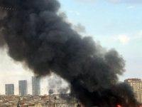 Zeytinburnu'nda eski tekstil atölyesinde korkutan yangın