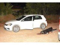 Otomobilinin yanında başından tabancayla vurulmuş halde bulundu