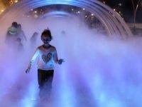 İstanbul'da çocuklara 'Sis Parkı' eğlencesi