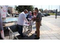 İl Sağlık Müdürlüğü Sağlıklı Yaşam AracıBilgilendirme ve Denetim İçin Cumhuriyet Meydanındaydı