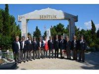 Sinop'ta Kıbrıs Barış Harekatı'nın 44. yıl dönümü nedeniyle şehitlik ziyareti
