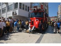 Sinop Belediyesi yeni itfaiye aracını tanıttı