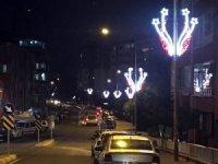 Yozgat'ın caddeleri estetik ışıklandırmalarla renklendi