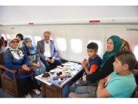 Dev yolcu uçağı Millet Kıraathanesine dönüştü