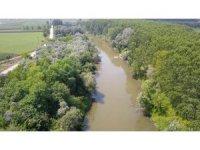 OSB'nin atık suları ile kirlenen Sakarya Nehri havadan görüntülendi
