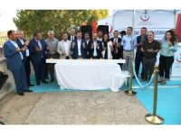 Turan, Bozcaada'da Sağlık Lojmanları Temel Atma Törenine katıldı
