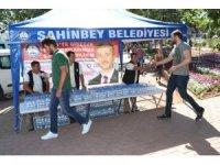Şahinbey Belediyesi vatandaşları KPSS'de yalnız bırakmadı