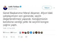 Lütfü Türkkan'dan seçim açıklaması