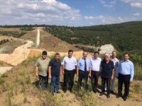 Dereköy Barajı inşaat çalışmaları yerinde incelendi