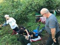 Patpat bahçeye yuvarlandı: 2 yaralı