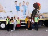 LÖSEV tırı Yozgat'ta 25 aileye ulaştı