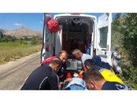 Kazada araçta sıkışan sürücü kurtarıldı