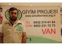 Van Umut Kervanı'ndan 150 aileye giyim yardımı