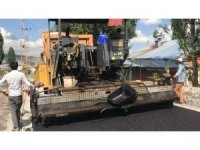Başkan Toksoy Sanayi'de sıcak asfalt yapımını inceledi