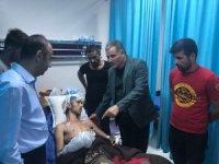 Çakır, yaralanan taraftarı hastanede ziyaret etti