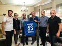 Çaykur Rizespor'dan Eren Başak'ın ailesine taziye ziyareti