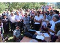 Köylerine taş ocağı istemeyen köylüler, ÇED toplantısında tepkilerini gösterdi