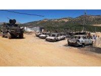 PKK'lıların yaktığı araçlar gündüz böyle görüntülendi