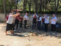 Isparta'da içecekli ABD protestosu
