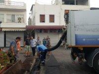 Bodrum'da yağmur suyu kanalları temizlendi