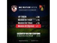 Gazişehir Gaziantep-İstanbulspor maçının bilet fiyatları belli oldu
