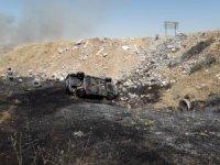 Kazada yanan otomobilde yaralanan şahıs hayatını kaybetti