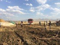 Erzurum'da korkutan ot yangını