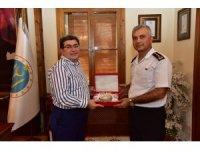 Jandarma Albay Yıldız'dan Başkan Can'a veda ziyareti