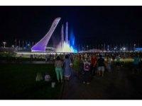 Rusya'da havai fişek yarışmaları izleyenleri mest etti