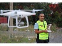 Bayram öncesi yollarda drone ile uygulama